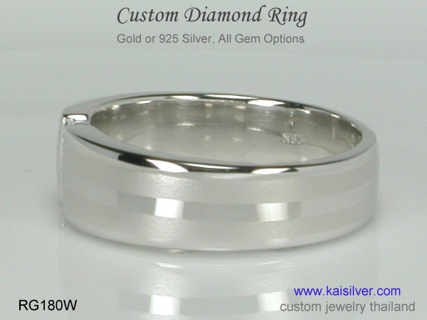 diamond band ring kaisilver