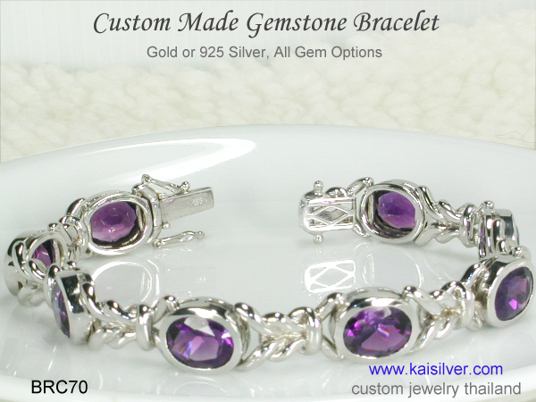 made to order amethyst bracelet