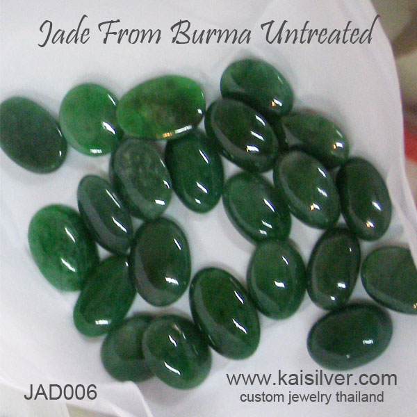 untreated green jade gemstones