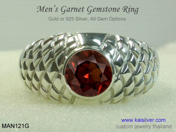garnet ring for men