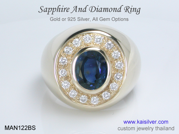 ring with sapphire custom made
