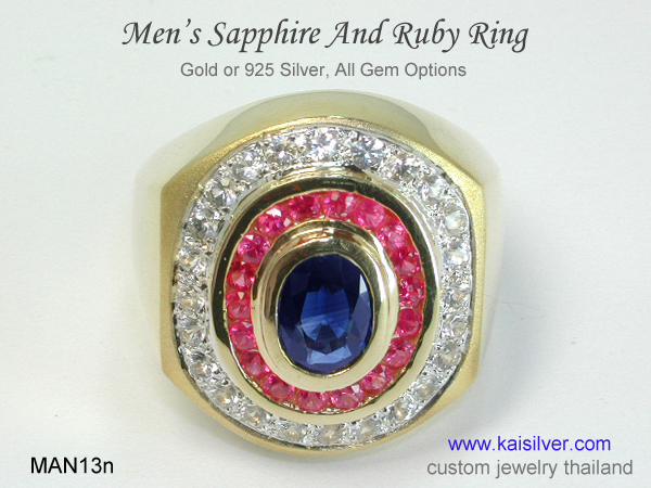 mens gemstone ring for men