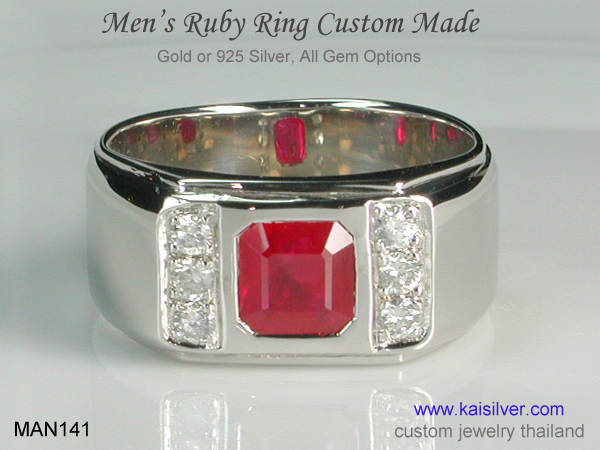kaisilver men's rings from Thailand