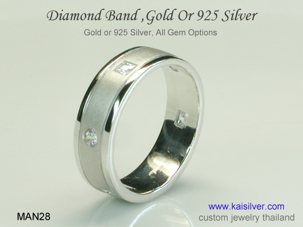 diamond rings thailand silver or gold