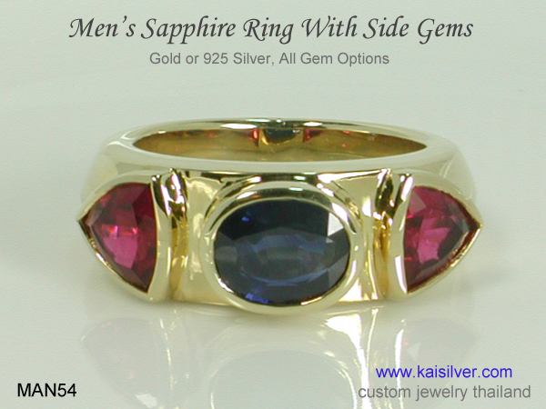 mens sapphire ring