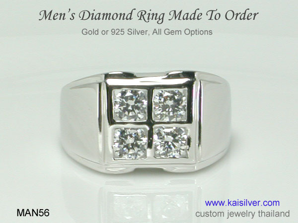 man diamond ring