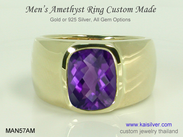 men's gemstone ring