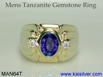 tanzanite gemstone ring for men