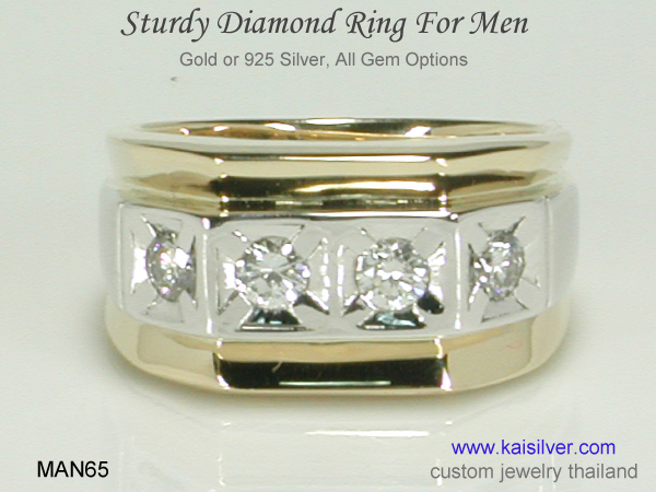 men's rings with diamonds