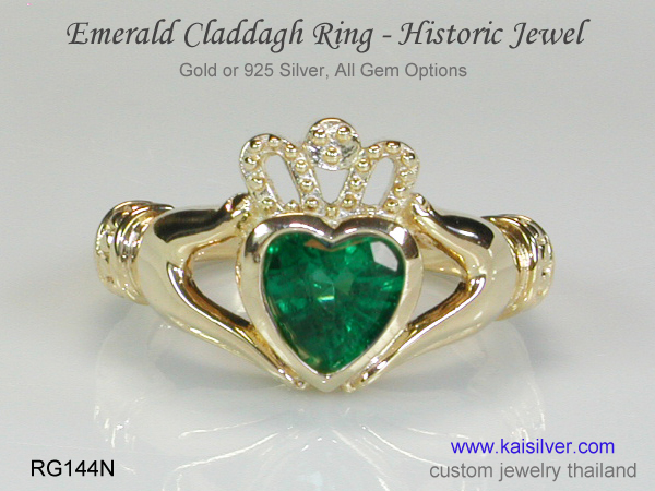 claddagh rings gold or silver