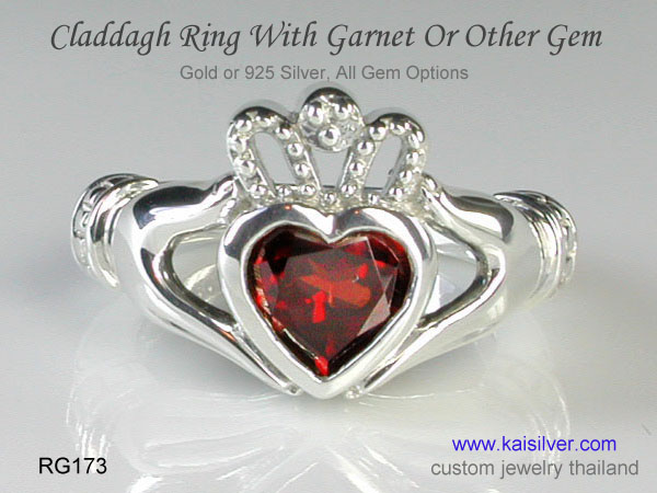 hand crafted claddagh ring kaisilver