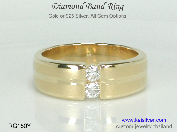 diamond ring white, yellow rose gold