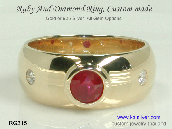 thailand ruby ring band