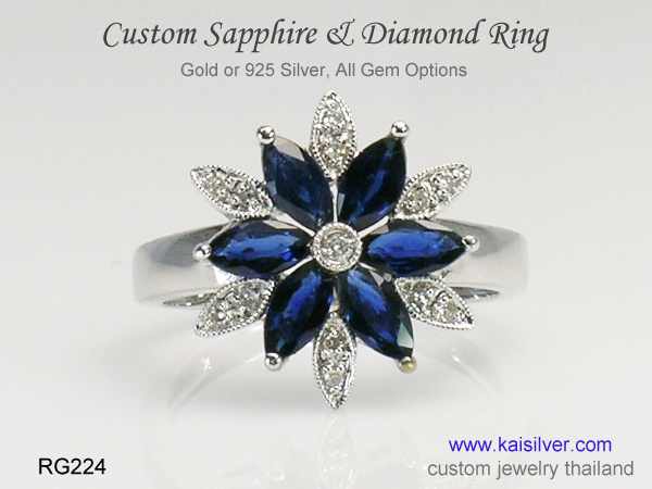 white gold mothers ring
